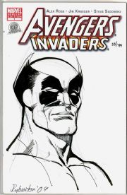 Avengers Invaders #1 Dynamic Forces Authentix Signed Joe Rubinstein Remarked Wolverine Sketch DF COA